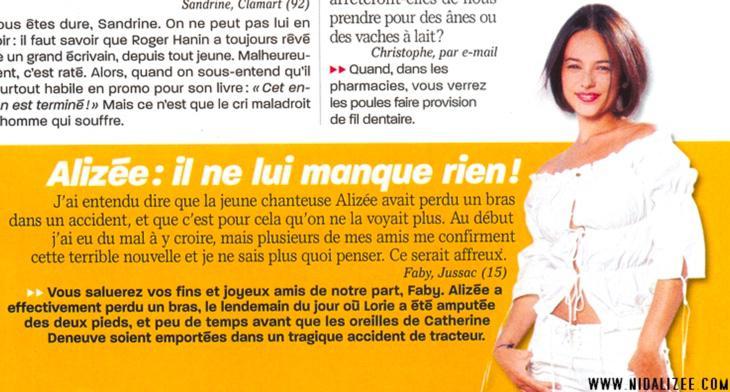 'Alizée: ¡No le falta nada!'. Salvo volver a tener éxito en España