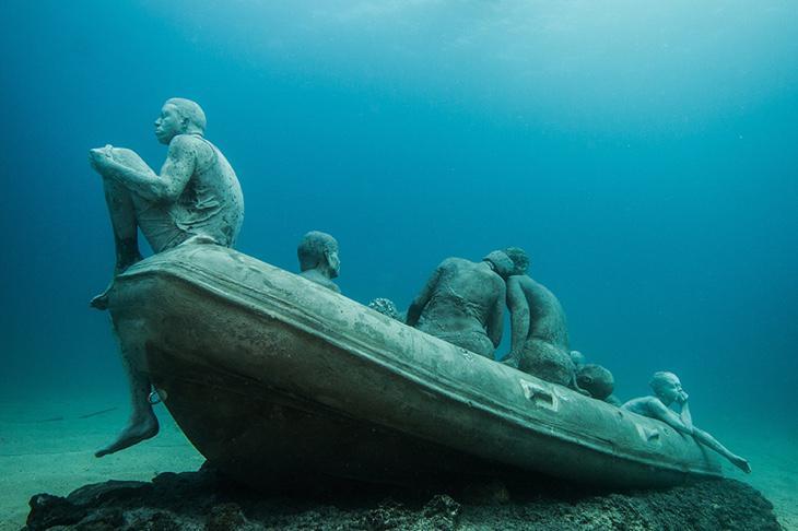'La Balsa de Lampedusa', de Jason DeCaires