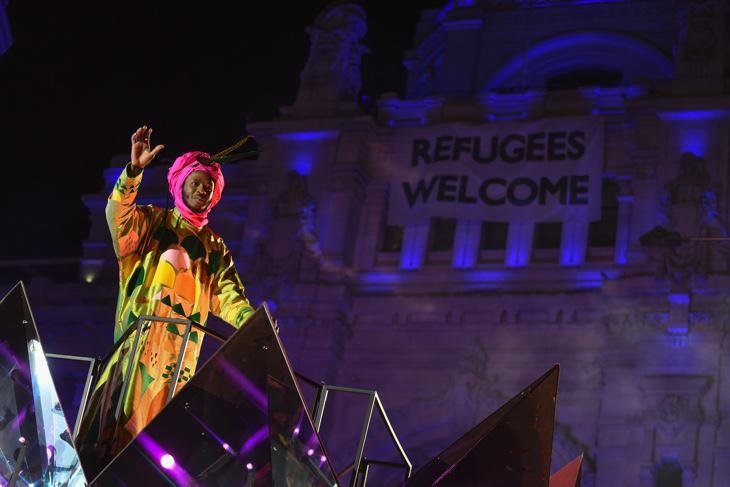 El Rey Baltasar en la última Cabalgata de Madrid