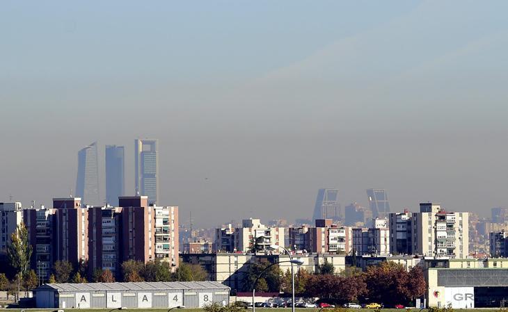 Contaminación de Madrid desde Cuatro Vientos