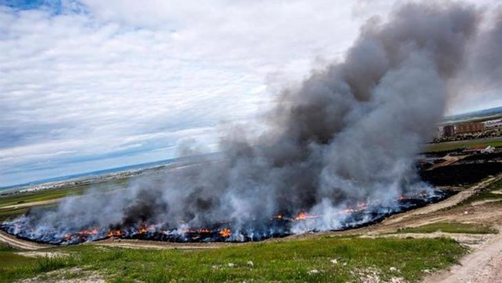 El impresionante incendio de neumáticos de Seseña