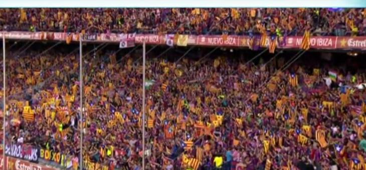 Muchas esteladas en el Vicente Calderón. Hace 4 años no eran banderas violentas