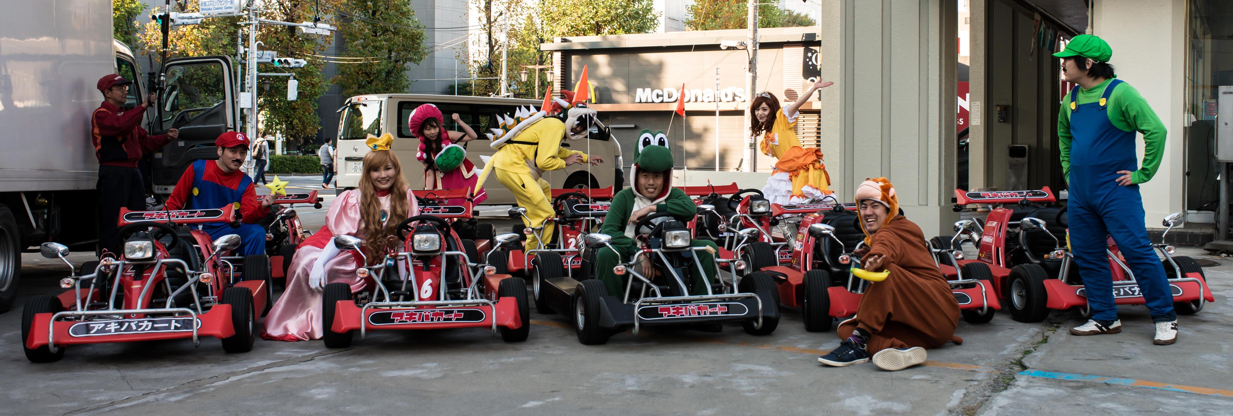 Si vas a Tokio ya puedes competir en un 'Mario Kart' humano por la ciudad