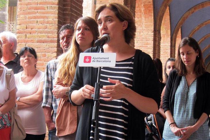Ada Colau, en uno de sus primeros actos como alcaldesa