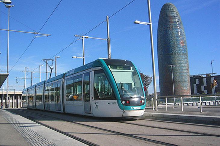 El TramBesòs, uno de los dos tranvías de Barcelona