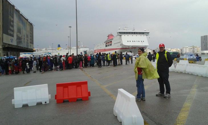 El puerto del Pireo, convertido en un campo de refugiados (Mónica Hidalgo)