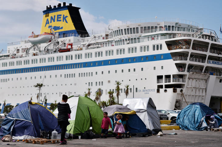 Los refugiados veían la zona del puerto como un lugar seguro