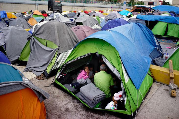 En Pireo quedan 1.000 personas de las que más de 6.000 que llegó a haber