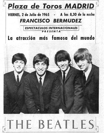 El cartel de Los Beatles en España (1965)