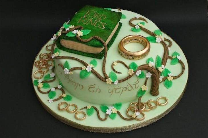 La tarta para los más fans de 'El Señor de los Anillos'
