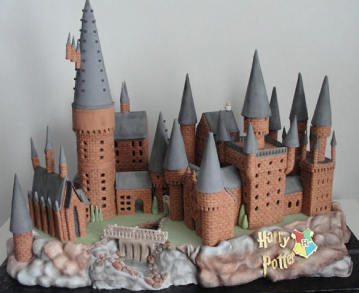 Una perfecta recreación de Hogwarts, el colegio de Harry Potter (Cherry Bay Cakery)
