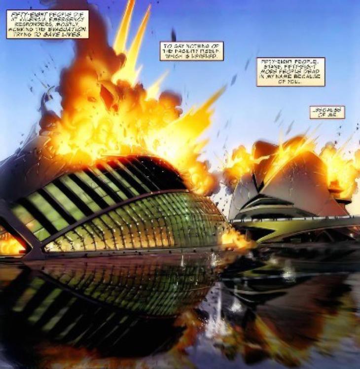Valencia en llamas por culpa de Iron Man