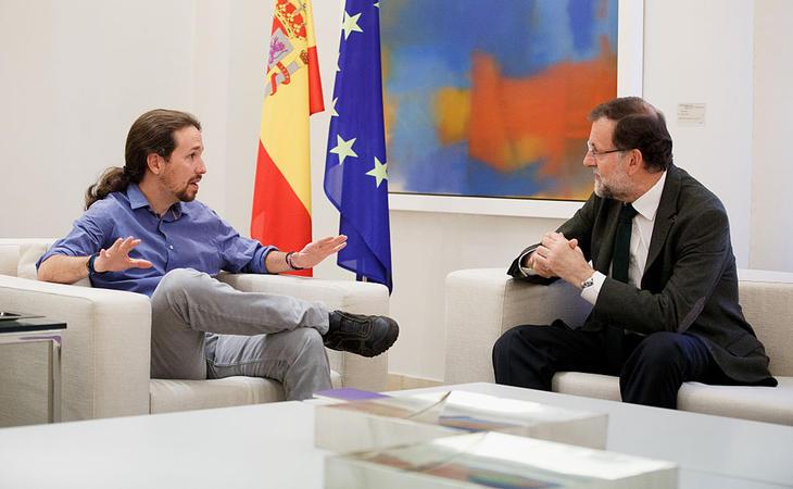 Iglesias y Rajoy en la Moncloa