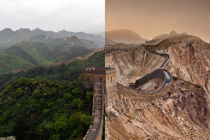 La Muralla China, seca por el deshielo del Ártico