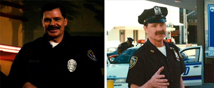 Dan Patrick como policía