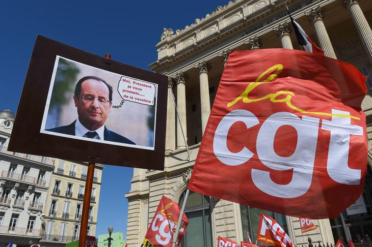 Protesta contra Hollande