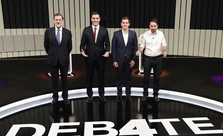 Los políticos del Debate del 13-J