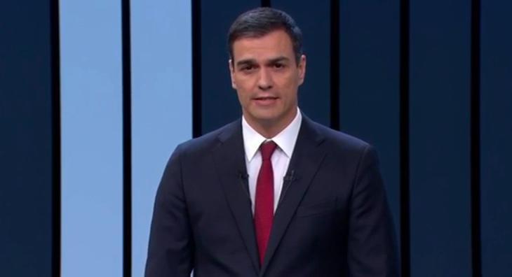 Pedro Sánchez en el Debate