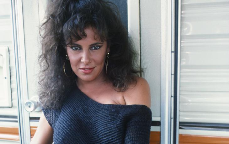 Ana Obregón durante el rodaje de 'El equipo A'