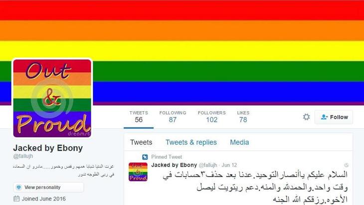 'Gay y orgulloso', en una cuenta de ISIS