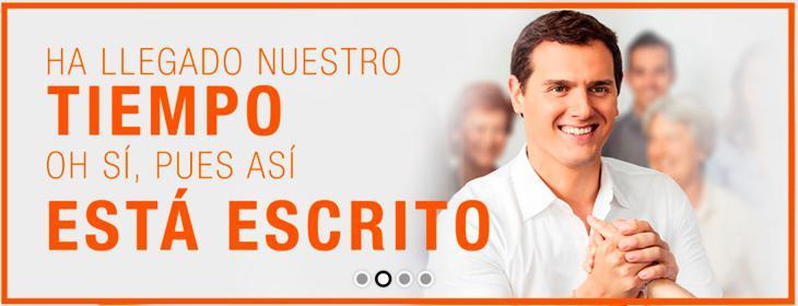 Cartel electoral de la 'nueva' web de Ciudadanos