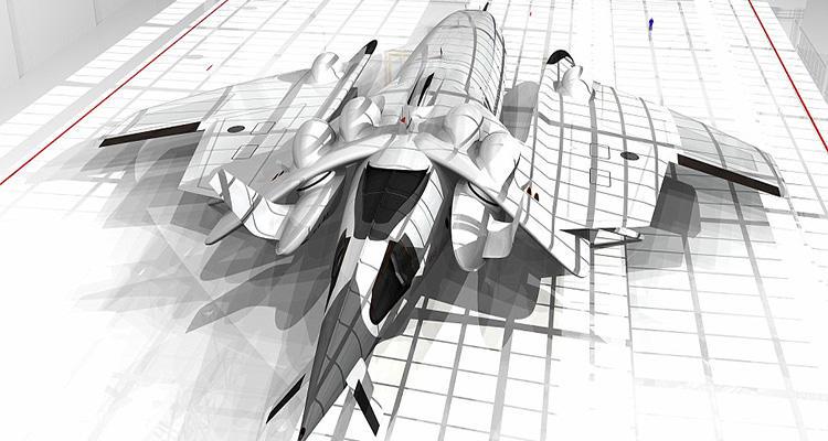 Prototipo de la parte de arriba del Flash Falcon