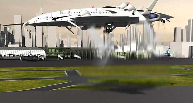 Recreación del aterrizaje del aparato