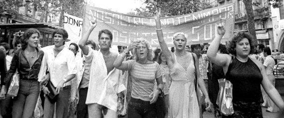 Primera manifestación del Orgullo en España (Barcelona, 1977)