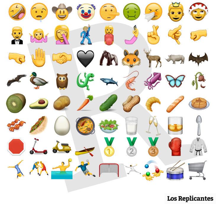 Los 72 nuevos emojis de WhatsApp, paella incluida