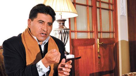 César Cocarico, primer ministro de agricultura boliviano