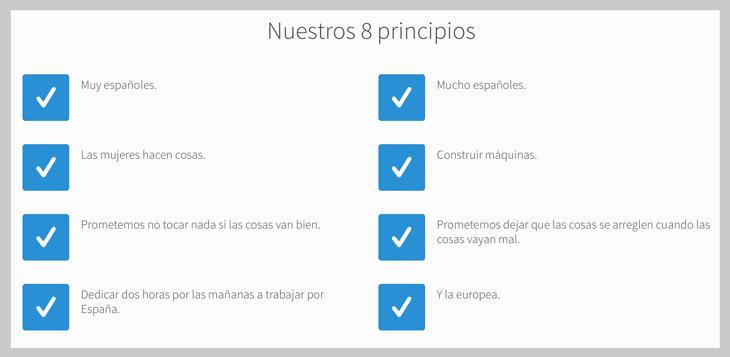 Los principios del PP en la web de EMT