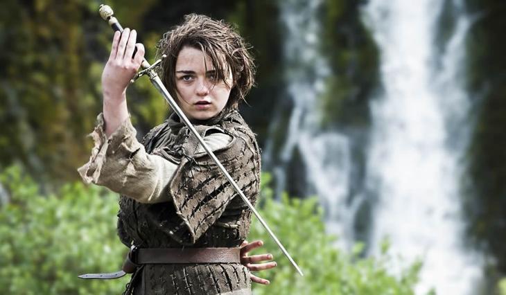 Arya Stark y Aguja, su tamagotchi