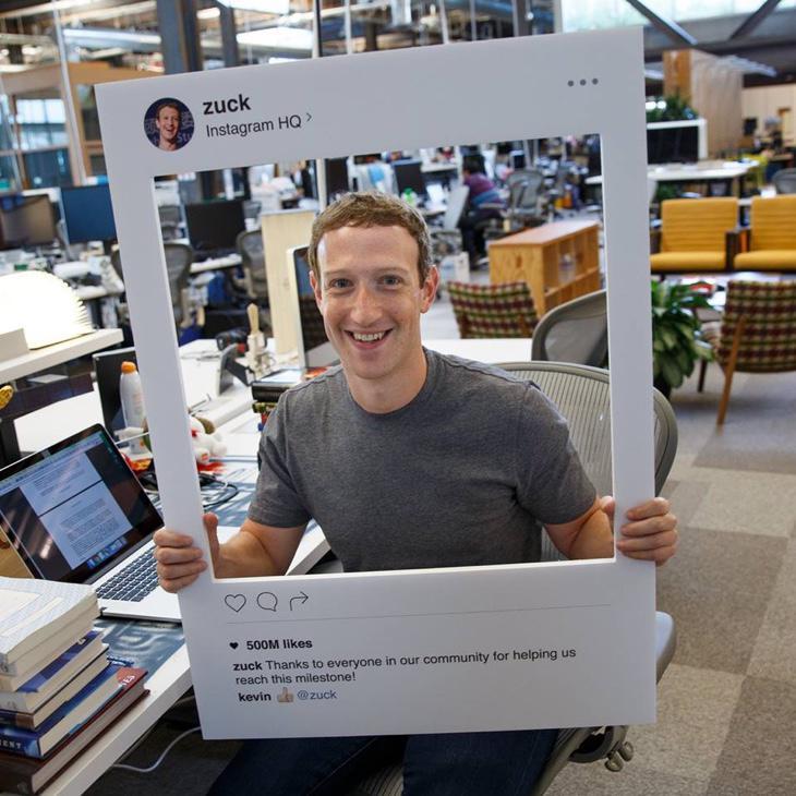 La foto de Zuckerberg en cuestión