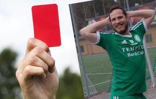 Un futbolista sueco es expulsado de un partido por tirarse pedos
