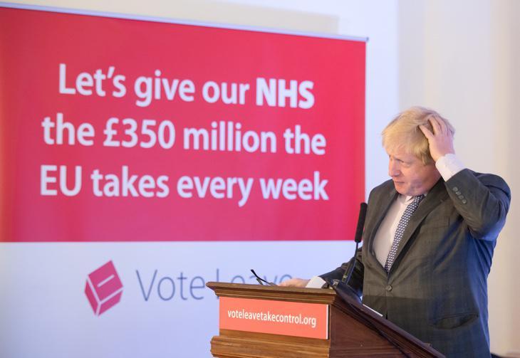 Boris Johnson haciendo campaña para el 'Brexit'