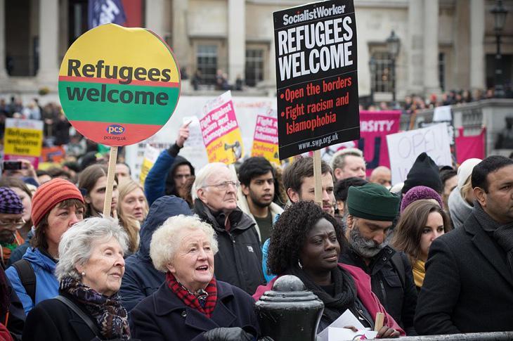 Una manifestación anti xenofobia en Londres