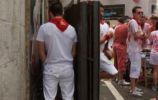 El líquido repelente que hará que no puedas orinar en las calles de Pamplona en San Fermín