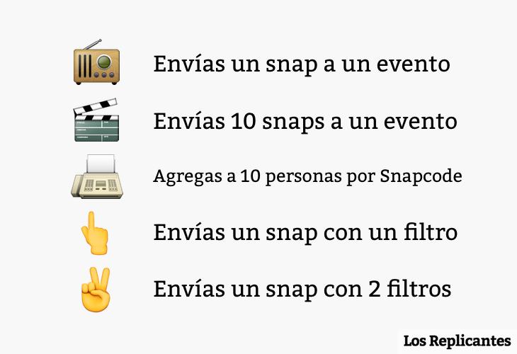 5 trofeos de Snapchat