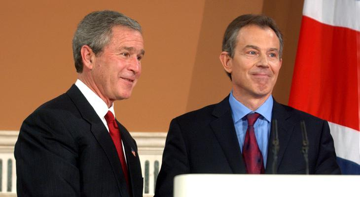 Bush y Blair en 2003
