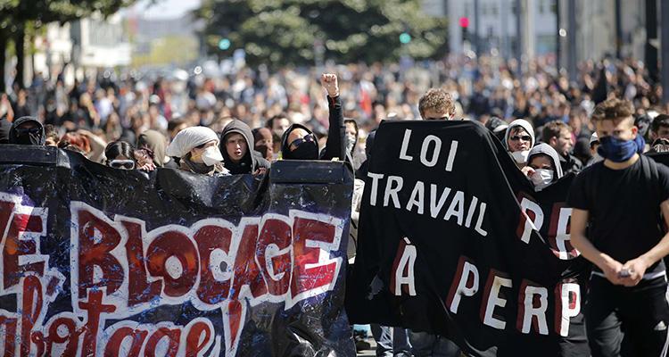 Los trabajadores protestan en Francia contra la reforma laboral