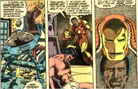 Tony Stark, víctima del alcohol