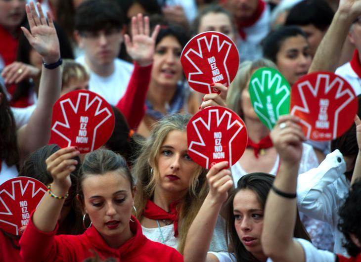 Manifestación en Pamplona contra las agresiones machistas