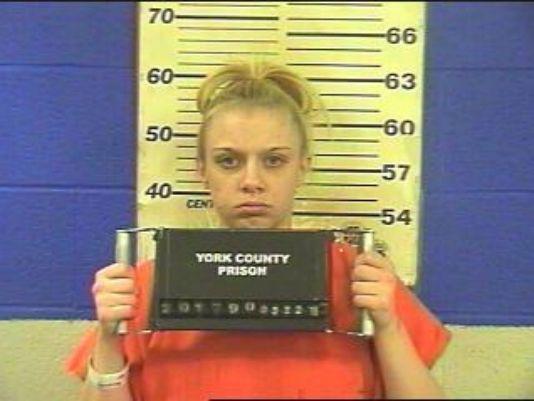 Amanda Warfel en la prisión del condado de York