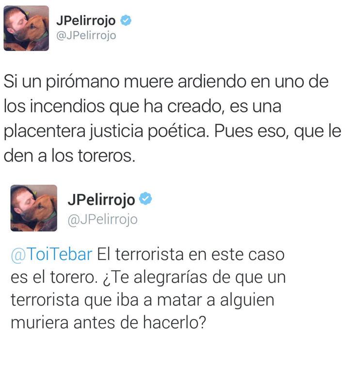 Algunos de los tweets de JPelirrojo