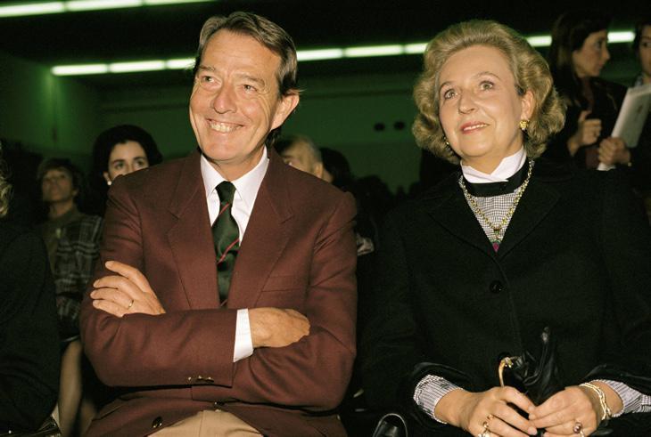 Pilar de Borbón junto a su marido