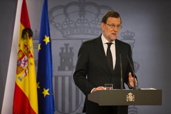 Mariano Rajoy en la rueda de prensa