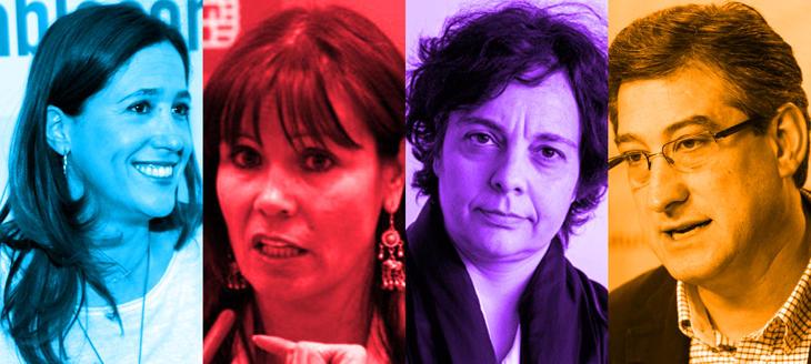 Así se reparten las vicepresidencias del Congreso: 1º Ignacio Prendes (Cs), 2ª Micaela Navarro (PSOE), 3ª Rosa Romero (PP), 4ª Gloria Elizo (UP)