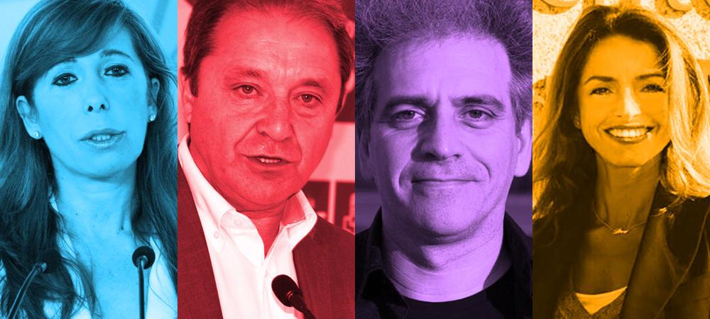 Así se reparten las secretarías del Congreso: 1ª Alicia Sánchez-Camacho (PP), 2ª Juan Luis Gordo (PSOE), 3º Marcelo Expósito (UP), 4ª ...