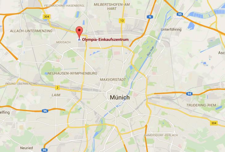 Lugar donde se sitúa el centro comercial del tiroteo de Múnich