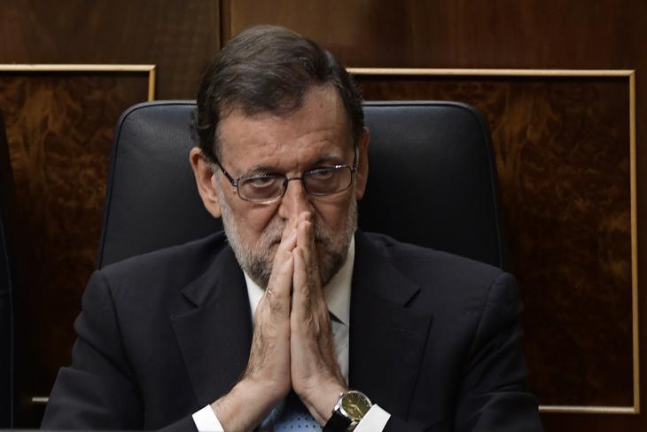 Marian Rajoy pensando en el Congreso